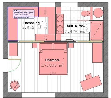 plan chambre salle de bain plan suite parentale avec salle de bain et dressing 4