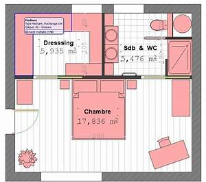 plan suite parentale avec salle de bain et dressing 4 With plan chambre avec salle de bain et dressing