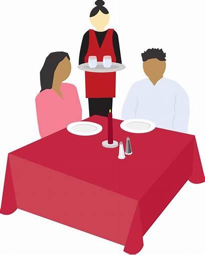 Clip Dining Svg Clipart Eat Restaurants Couple