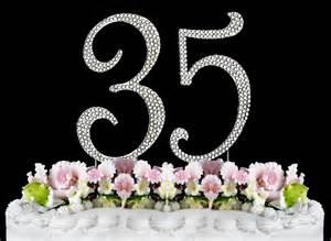rhinestone cake toppers large rhinestone number 35 anniversary birthday wedding