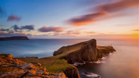 Neist Point On Isle Of Skye At Sunset Scotland Uk