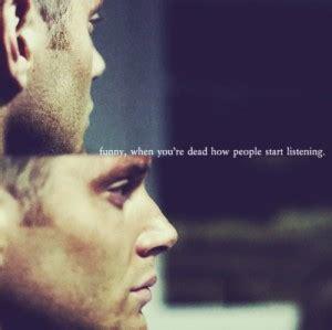 dean sad supernatural quotes quotesgram