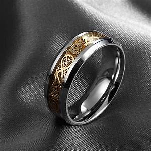 never fade stainless steel ring mens jewelry wedding band With mens wedding ring stainless steel