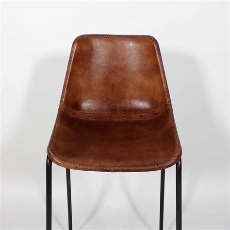 chaises cuir chaise de bar industrielle cuir et métal dublin marron