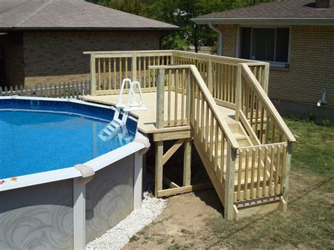 Above Ground Swimming Pool Steps Deck by 25 Best Ideas About Above Ground Pool Stairs On