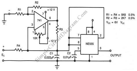 Voltage Frequency Converter Simple Circuit Diagram