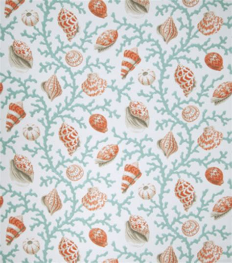 Coral Upholstery Fabric by Upholstery Fabric Eaton Square Coral And Shells Teal Opt
