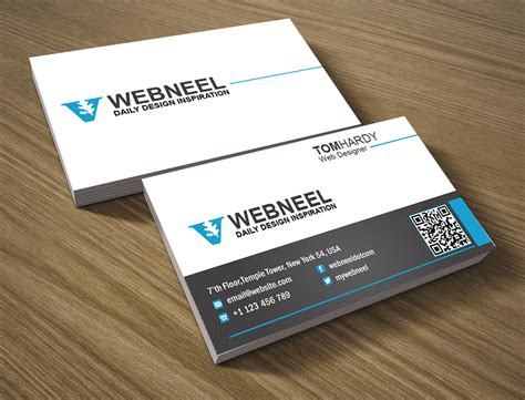simple business card template  freedownload printing