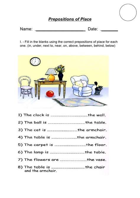 Prepositions Of Place I