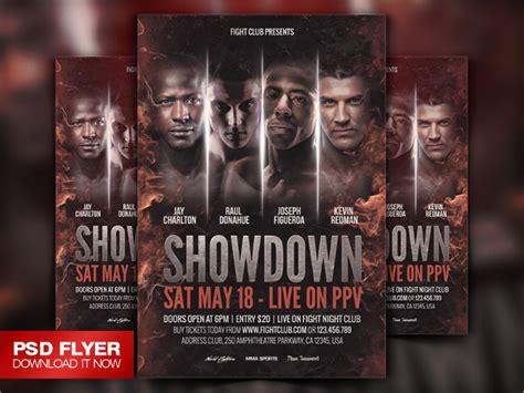 showdown flyer templates psd format