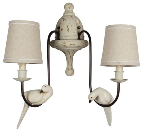 lb lighting 2 light bird wall sconce wall sconces houzz