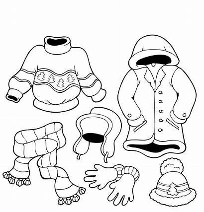 Coloring Winter Clothes Pages Printable