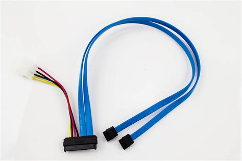 Amphenol 29p SAS to 2 x SATA LP4 Power Cable - Pactech