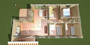 plan 3d maison en bois With creation de maison 3d
