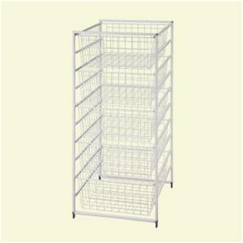 closetmaid wire basket closetmaid 17 875 in x 41 in drawer kit with 5 wire