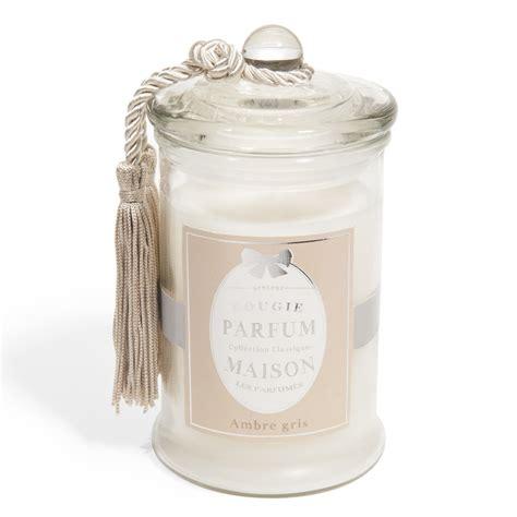 bougie en verre parfum ambre blanche h 15 cm classique