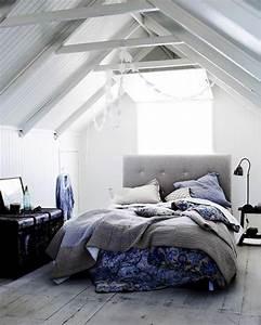 amenagement des combles pour une jolie chambre sous toit With chambre dans les combles photos