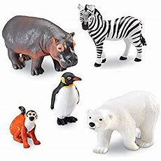 Amazoncom Learning Resources Jumbo Zoo Animals Toys & Games