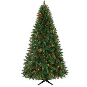 holiday time pre lit 7 5 kennedy fir artificial christmas tree multicolor lights walmart com