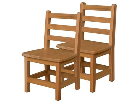 ladder back wooden preschool chair set of 2 12 quot h seat 812 | WDE 81202T