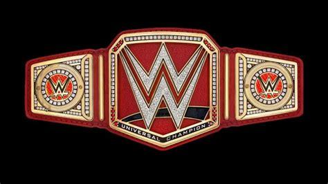 redesigns wwe universal championship title belt