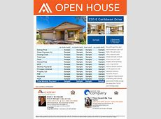 CoBranded Property Flyer Open House, Just Listed, Just