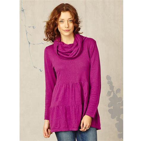 canapé violet bt14wwt2061 quot eris quot cowl neck knitted tunic braintree