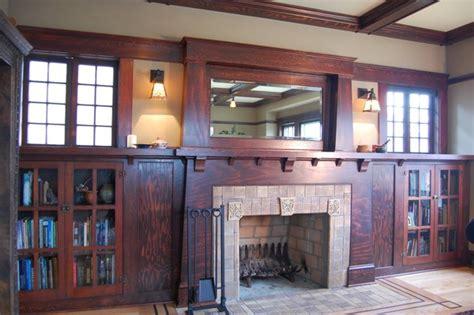 craftsman fireplace craftsman living room portland  craftsman design  renovation