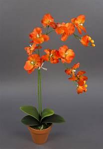 Kunstblumen Orchideen Topf : orchidee 65cm orange dp kunstblumen k nstliche blumen ~ Whattoseeinmadrid.com Haus und Dekorationen