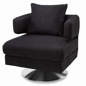 Bora, Modern, Swivel, Fabric, Chair