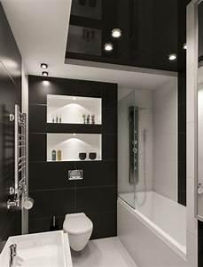 Fliesen Schwarz Weiß : kleines badezimmer gestalten 30 fliesen ideen und tipps ~ A.2002-acura-tl-radio.info Haus und Dekorationen