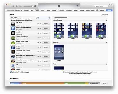 Itunes Iphone Arrange Screen Icons Apps Using
