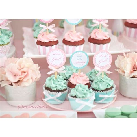 pink dessert table baby shower cupcakes for pink and tiffany green inspired baby shower