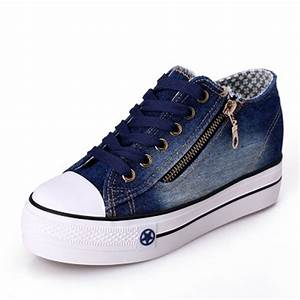 Free Shipping 2016 New Canvas Shoes Fashion Leisure Women Shoes Female Casual Shoes Jeans Blue ...