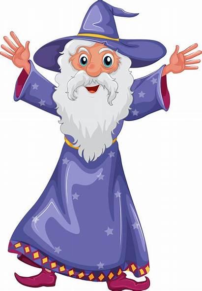 Wizard Clipart Fantasy Clip Cartoon Illustration Transparent