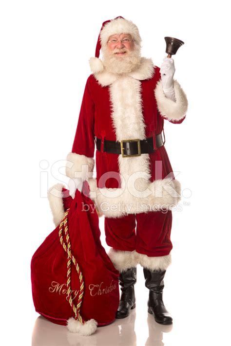 traditional santa claus ringing on santa claus ringing a bell stock photos freeimages com