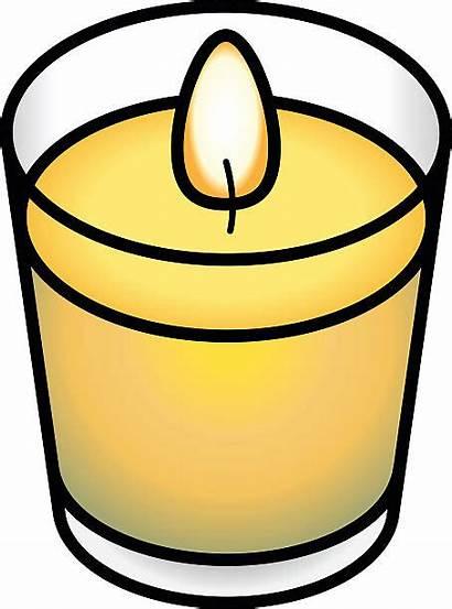 Candle Jar Candles Vector Clip Illustrations Votive
