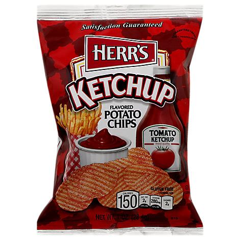 Herrs Ketchup Flavored Poato Chips - 1 Oz - Tom Thumb