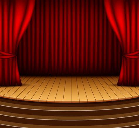 palco de fundo de desenhos animados  cortinas vermelhas