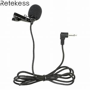 Portable Clip On Lapel Microphone Mic 3 5mm Jack Wired