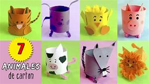 7 animales de cartón con tubos de papel higiénico ¡Hoy no hay cole!