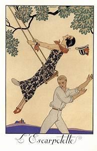 George Barbier  Almanac Illustrations 1922