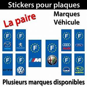 Autocollant De Marque : 2 sticker auto plaque immatriculation voiture adh sif departement autocollant r ebay ~ Gottalentnigeria.com Avis de Voitures