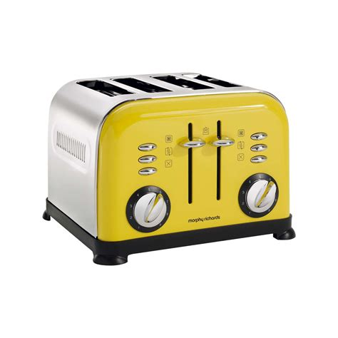 Yellow Toaster by Morphy Richards 4 Slice Accents Toaster Yellow Co