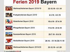 Ferien Bayern 2019 Übersicht der Ferientermine