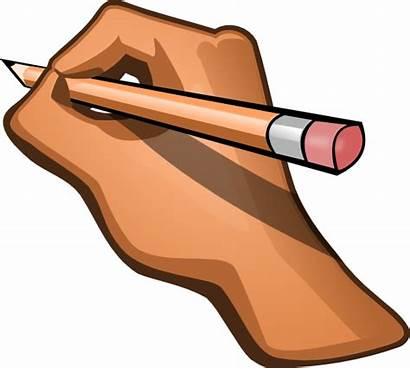 Writing Hand Clip Clipart Pencil Vector Cliparts