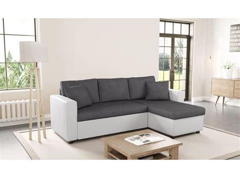 Canapés D'angle : Canapé D'angle Réversible Et Convertible Avec Coffre Gris