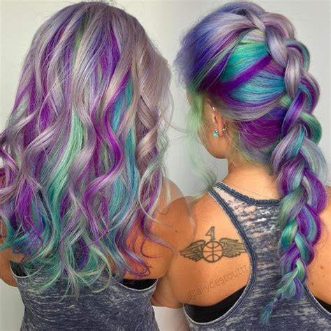 Pics Of Hair Color by Gray Blue Purple And Green Hair 1 Free Hair Color Pictures