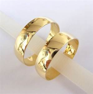 Wedding bands set women39s men39s wedding rings gold 5mm for Wedding gold rings for men
