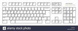 Standard 101 Keys Pc Keyboard Layout  In Vector Format